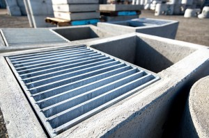 A Columbia Precast Products catch basin