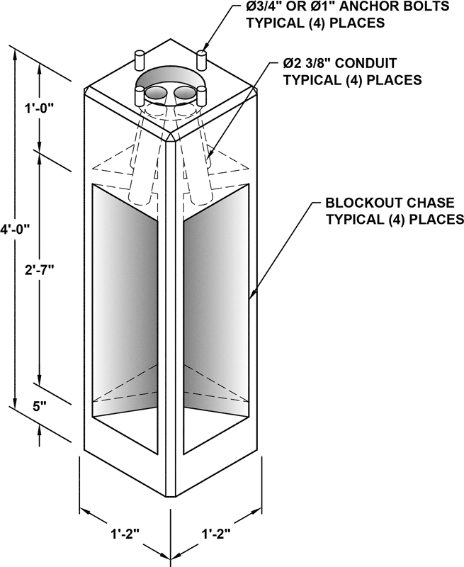 Light Pole Pedestal: Columbia Precast Products