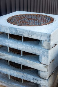 A Concrete Catch Basin Manufactured by Columbia Precast Products