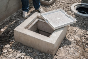 precast concrete grease interceptor also known as grease trap