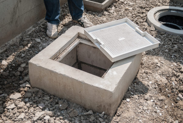 precast concrete grease interceptor also known as grease trap to illustrate precast concrete products