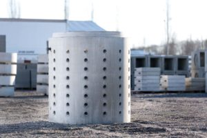 Dry well produced by Columbia Precast Products