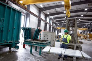 Columbia Precast controlled facility for manufacturing