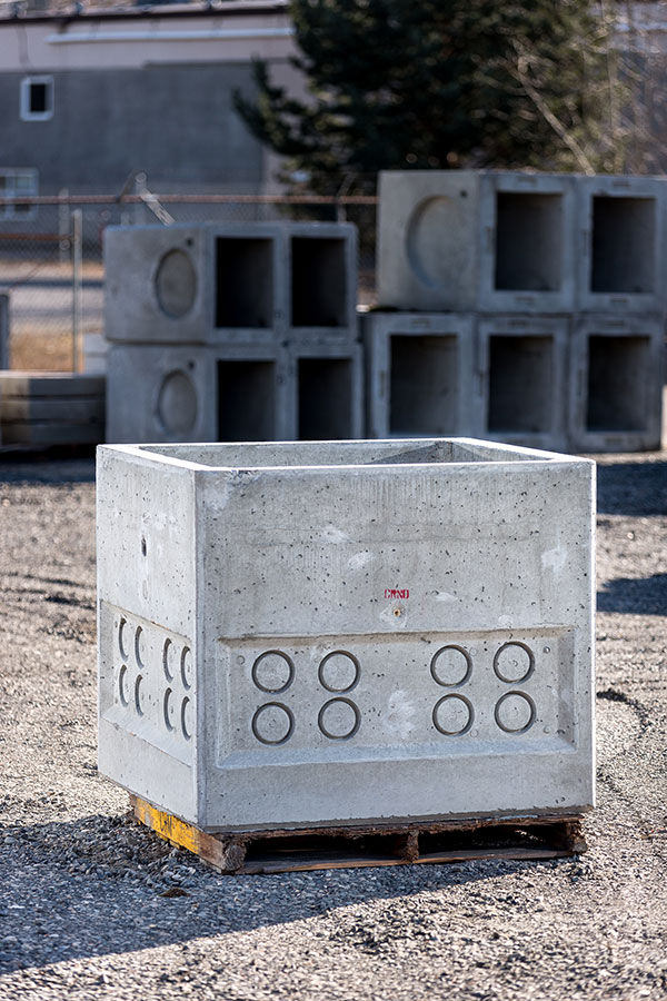 Concrete vault designs and uses Columbia Precast Products
