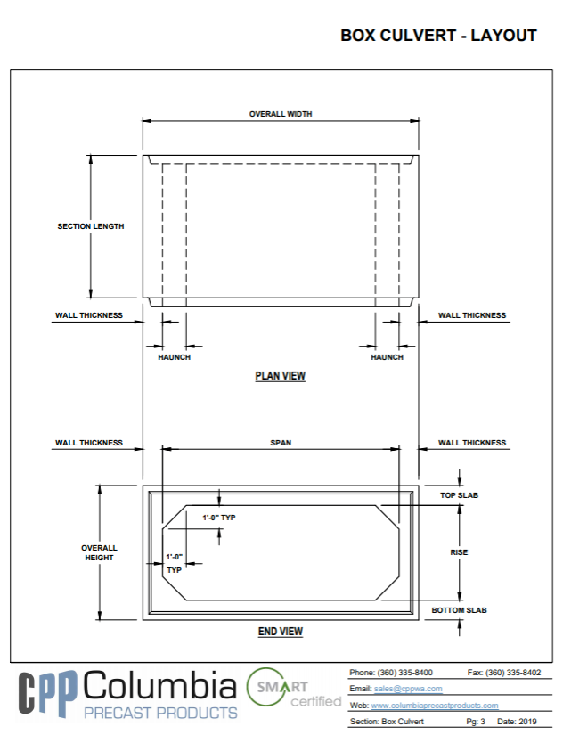 Box culvert layout plan