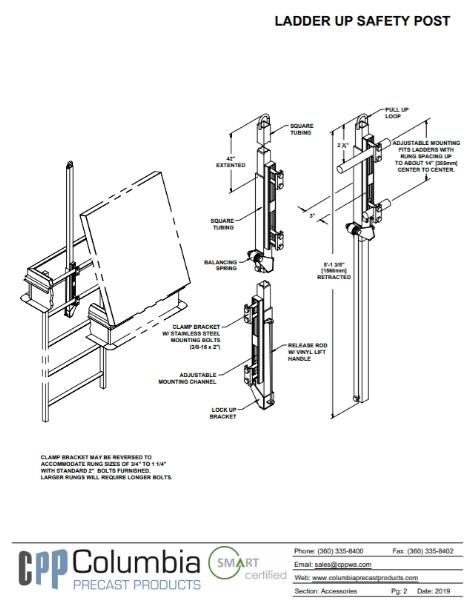 Ladder Up Safety Post