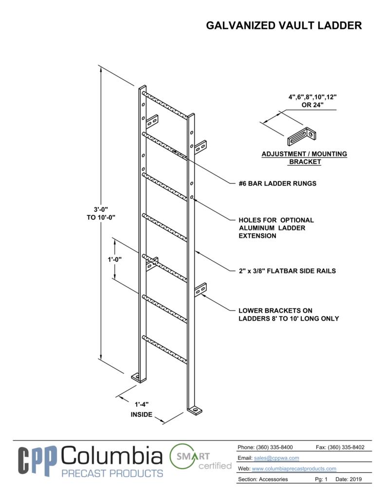galvanized vault ladder