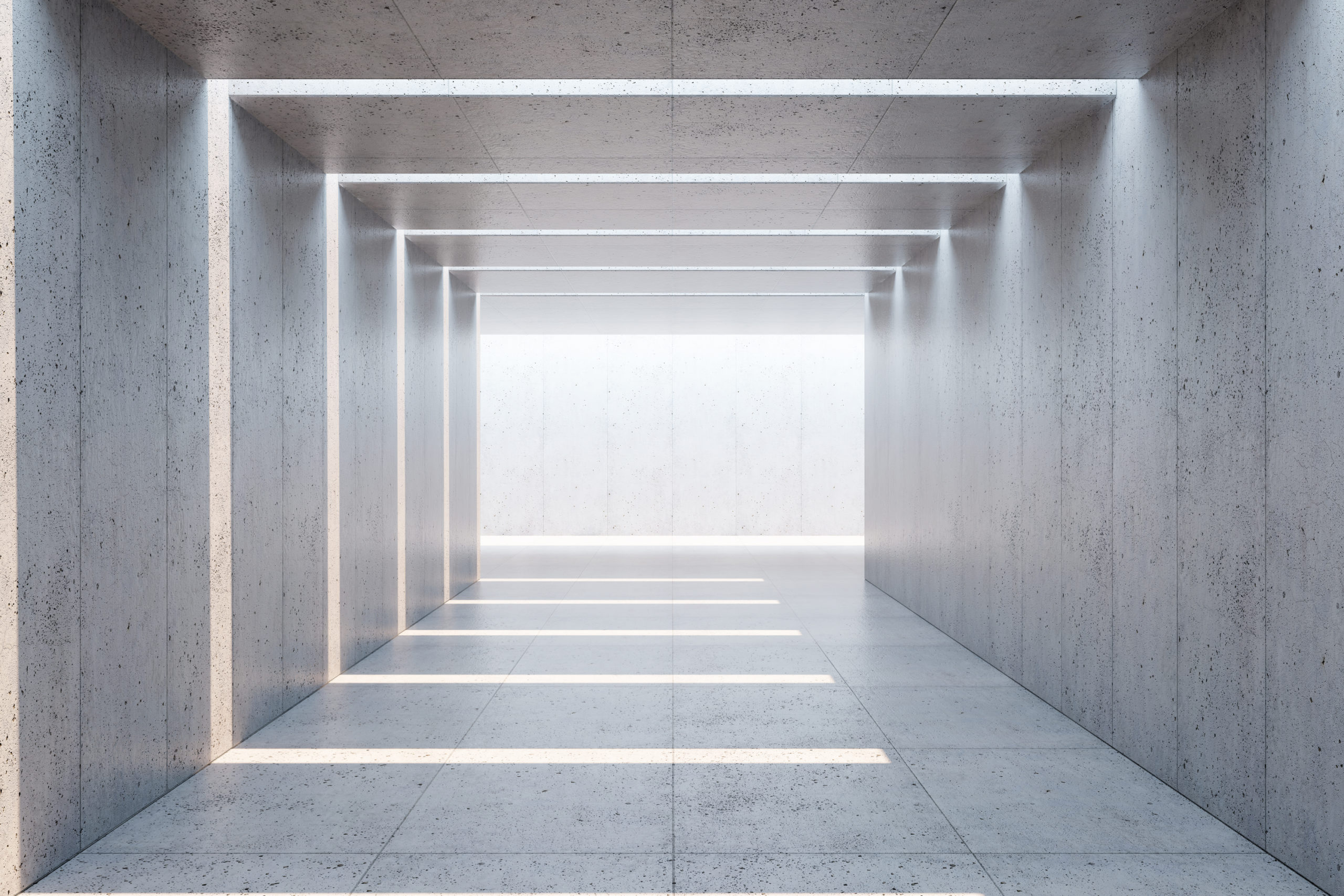 blank concrete space interior to illustrate How Precast Concrete Is Made